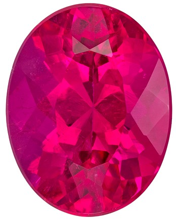 Loose Genuine Rubellite Tourmaline Gemstone, 3.1 carats, Oval Shape, 10.4 x 8.1 mm, Unusual Find