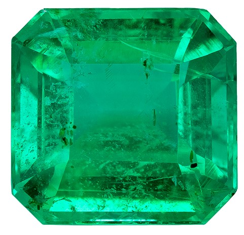 Loose Vibrant Emerald Gemstone, Emerald Cut, 3.34 carats, 9 x 8.7 mm , AfricaGems Certified - A Low Price
