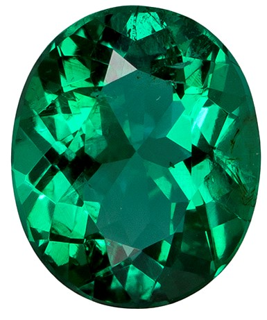Loose Vibrant Emerald Gemstone, Oval Cut, 1.06 carats, 7.6 x 6.4 mm , AfricaGems Certified - A Hard to Find Gem