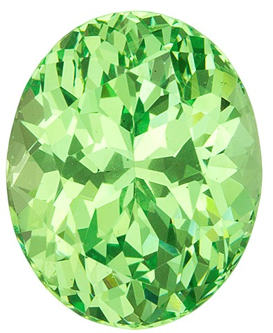 Loose Minty Green Garnet Gemstone, Oval Cut, 3.08 carats, 9.1 x 7.3 mm , AfricaGems Certified