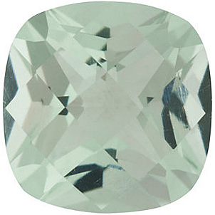Loose Green Quartz Gem, Antique Square Shape Checkerboard, Grade AA, 9.00 mm in Size, 3.3 Carats