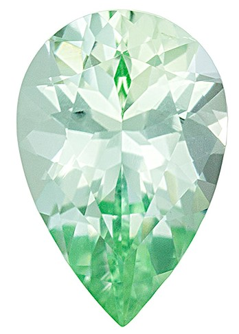 Loose Green Tourmaline Gemstone, Pear Cut, 2.52 carats, 11.7 x 7.7 mm , AfricaGems Certified - A Fine Gem