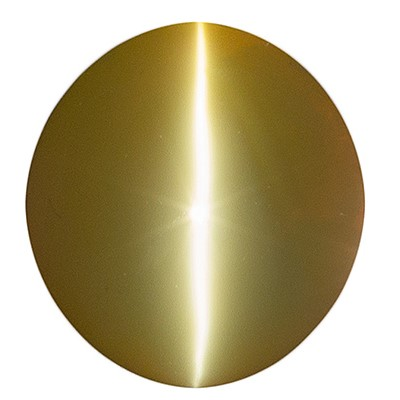 Stunning Catseye Chrysoberyl Gemstone, Oval Cut, 4.08 carats, 9.2 x 8.4 mm , AfricaGems Certified - A Rare Quality