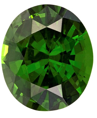 Loose Green Zircon Gemstone, Oval Cut, 4.54 carats, 10.4 x 9 mm , AfricaGems Certified - A Great Buy
