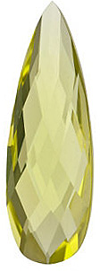 Loose Lemon Quartz Gem, Pear Shape, Grade AA, 24.00 x 8.00 mm in Size