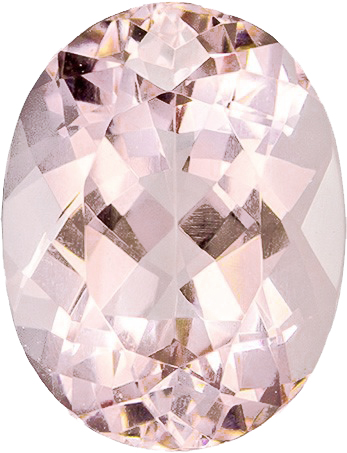 Pink Morganite Gems in Oval Cut in Grade AAA