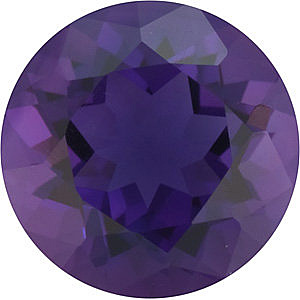 Loose Natural ,  Amethyst Gemstone in Round Shape, Grade AAA 1.75 carats, 8.00 mm in Size, 1.75 carats