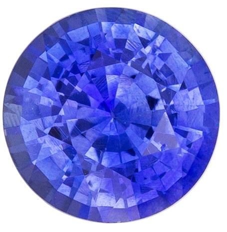 Loose Natural  Blue Sapphire Gemstone, 1.10 carats, Round Shape, 6.0 mm, Super Great Buy