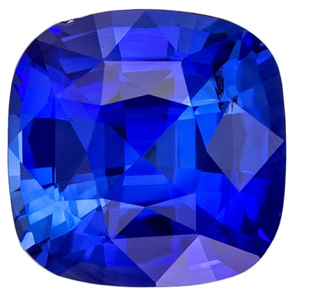 Loose Natural  Blue Sapphire Gemstone, 1.18 carats, Cushion Shape, 6 x 6 mm, Amazing Gemstone - Low Price