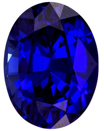 Loose Natural  Blue Sapphire Gemstone, 1.8 carats, Oval Shape, 7.9 x 5.9 mm, Super Fine Gem, Great Deal