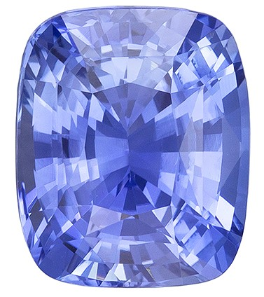 Loose Natural Unheated Blue Sapphire Gemstone with GIA Cert, 2.26 carats, Cushion Shape, 7.88 x 6.59 x 4.79 mm