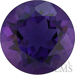 Loose Natural Calibrated Size Amethyst Gemstone in Round Shape Grade AAA, 10.00 mm in Size 3.46 carats
