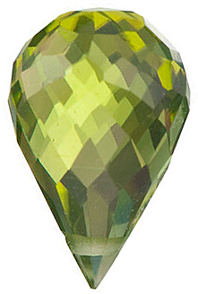 Loose Natural Genuine Briolette Side Drilled Peridot Gem Grade AA, 10.00 x 5.00 mm in Size, 1.95 Carats