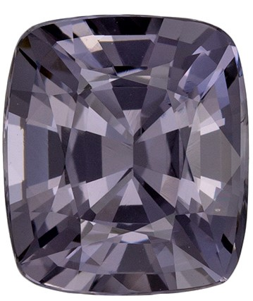 Loose Natural  Gray Spinel Gemstone, 2.17 carats, Cushion Shape, 8.2 x 7.1 mm, A Wonderful Find