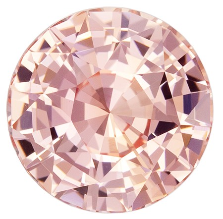 GIA No Heat Rare Natural Padparadscha Sapphire Gemstone, 2.04 carats, Round Shape, 7.42 x 7.47 x 4.75 mm, A Rare Gem