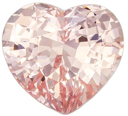 No Heat GIA Certified Pretty Peach Sapphire Gemstone, 2.49 carats, Rare Heart Shape, 8.22 x 7.47 x 5.3 mm, Great Deal!