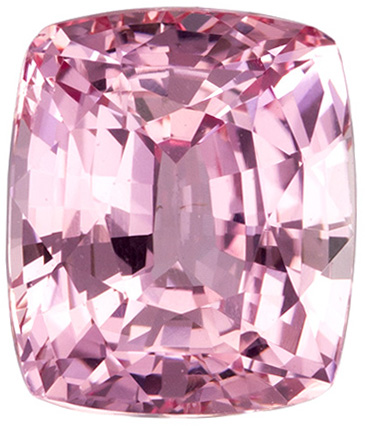 Loose Padparadscha Unheated Gemstone in Cushion Cut, GIA, 8.3 x 7.11 x 5.16 mm, 3 carats