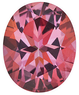 Loose Pink Passion Topaz Stone, Oval Shape, Grade AAA, 9.00 x 7.00 mm in Size