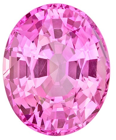 Loose Pink Sapphire Gemstone, Oval Cut, 4.15 carats, 10.28 x 8.35 x 5.89 mm , GIA Certified - A Super Fine Gem, Great Deal