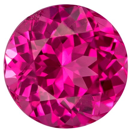 Pink Hot Vivid Spinel Gemstone, Round Cut, 0.93 carats, 5.7 mm , AfricaGems Certified - A Magnificent Gem