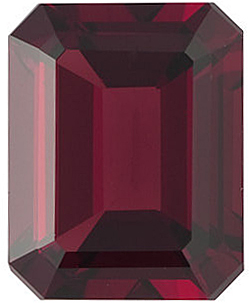 Loose Red Garnet Stone, Emerald Shape, Grade AAA, 12.00 x 10.00 mm in Size, 7 carats