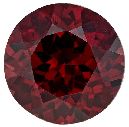 Loose Rich Rhodolite Gemstone, Round Cut, 2.39 carats, 7.9 mm , AfricaGems Certified - A Beauty of A Gem
