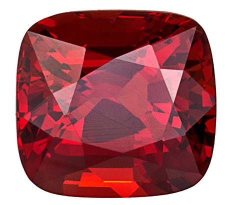 Loose Burma Red Spinel Gemstone, Cushion Cut, 1.31 carats, 6.2 x 5.8 mm , AfricaGems Certified - A Hard to Find Gem