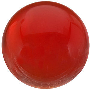 Loose Reddish Orange Carnelian Gem, Round Shape Cabochon, Grade AAA, 7.00 mm in Size