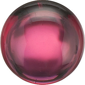 Loose Rhodolite Garnet Stone, Round Shape, Cabochon, Grade AAA, 5.00 mm in Size, 0.9 carats
