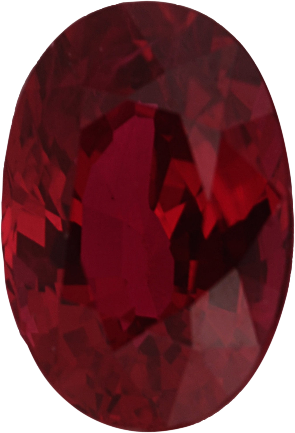 Loose Ruby Loose Gem in Oval Cut, Vibrant Purple Red, 7.07 x 4.83  mm, 1.1 Carats