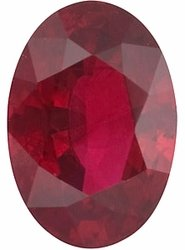 Quality Ruby Stone, Oval Shape, Grade A, 6.00 x 4.00 mm in Size, 0.6 Carats