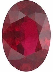 Loose Ruby Stone, Oval Shape, Grade A, 4.00 x 3.00 mm in Size, 0.25 Carats