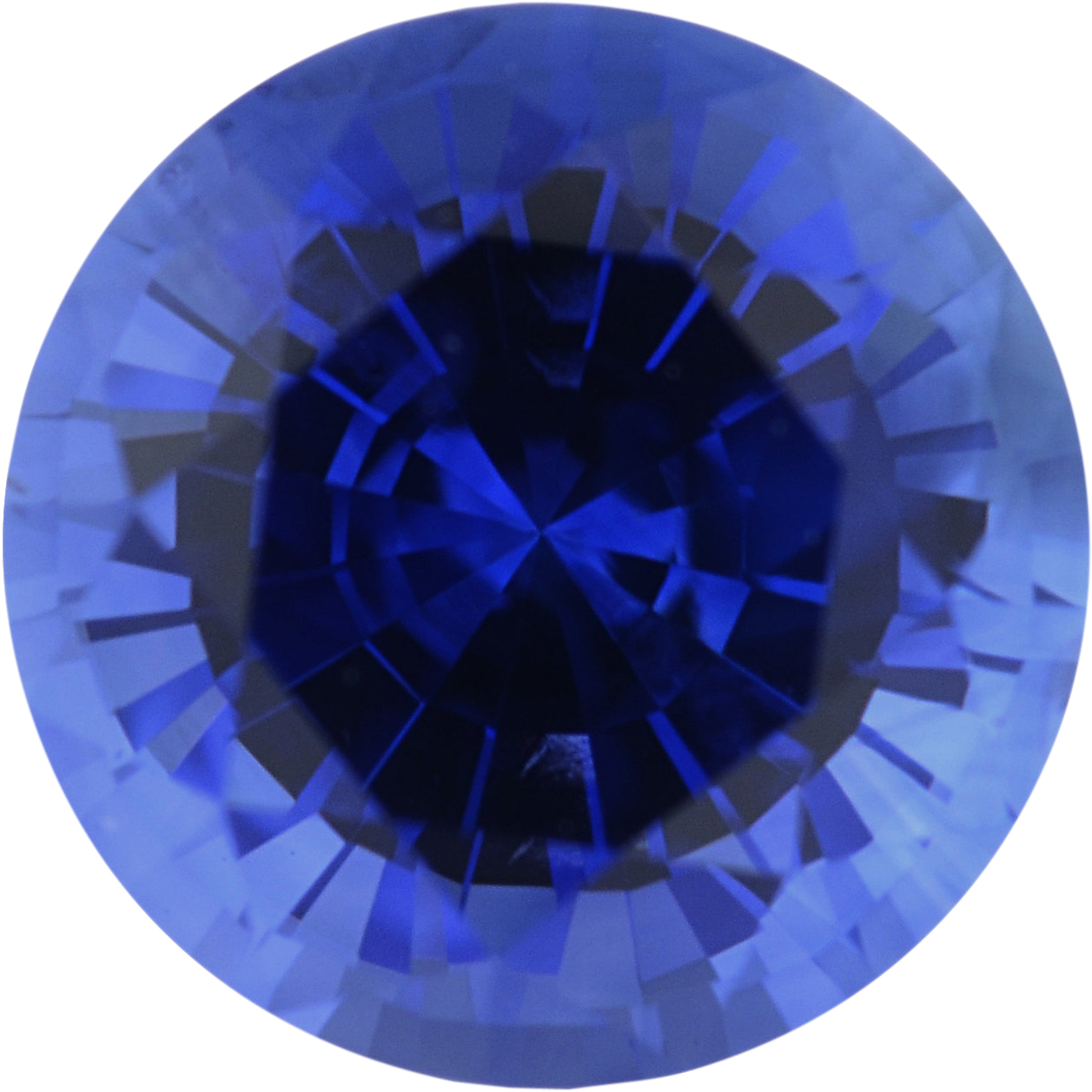 Loose Sapphire Loose Gem in Round Cut, Medium Violet Blue, 6.09 mm, 1.14 Carats