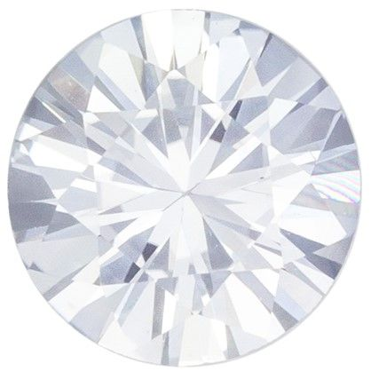 Loose Stone White Sapphire Round Shaped Gemstone, 0.94 carats, 6mm - Truly Stunning