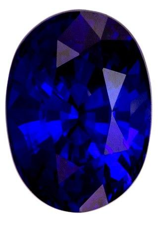 Loose Stunning 1.16 carats Sapphire Loose Genuine Gemstone in Oval Cut, Rich Blue, 7.1 x 5.1 mm
