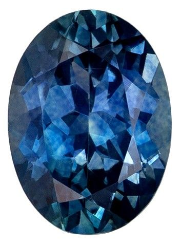 Loose Stunning 1.29 carats Sapphire Loose Gemstone in Oval Cut, Teal Blue Green, 7.5 x 5.5 mm