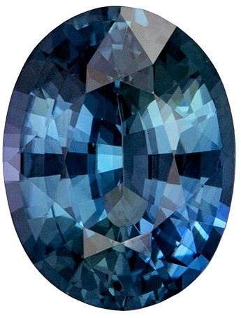 Deal on Loose Stunning 2.26 carats Sapphire Loose Gemstone in Oval Cut, Teal Blue Color, 9.1 x 7 mm