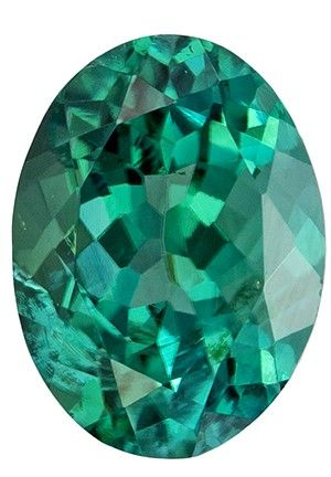 Loose Stunning 7.6 x 5.7 mm Tourmaline Genuine Gemstone in Oval Cut, Teal Blue, 1.22 carats