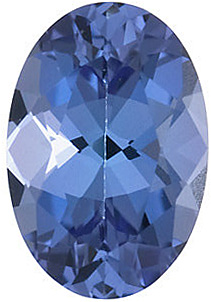 Loose Tanzanite Gemstone, Oval Shape, Grade AA, 5.00 x 4.00 mm in Size, 0.37 Carats