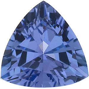 Loose Tanzanite Stone, Trillion Shape, Grade AA, 6.50 mm in Size, 0.88 Carats