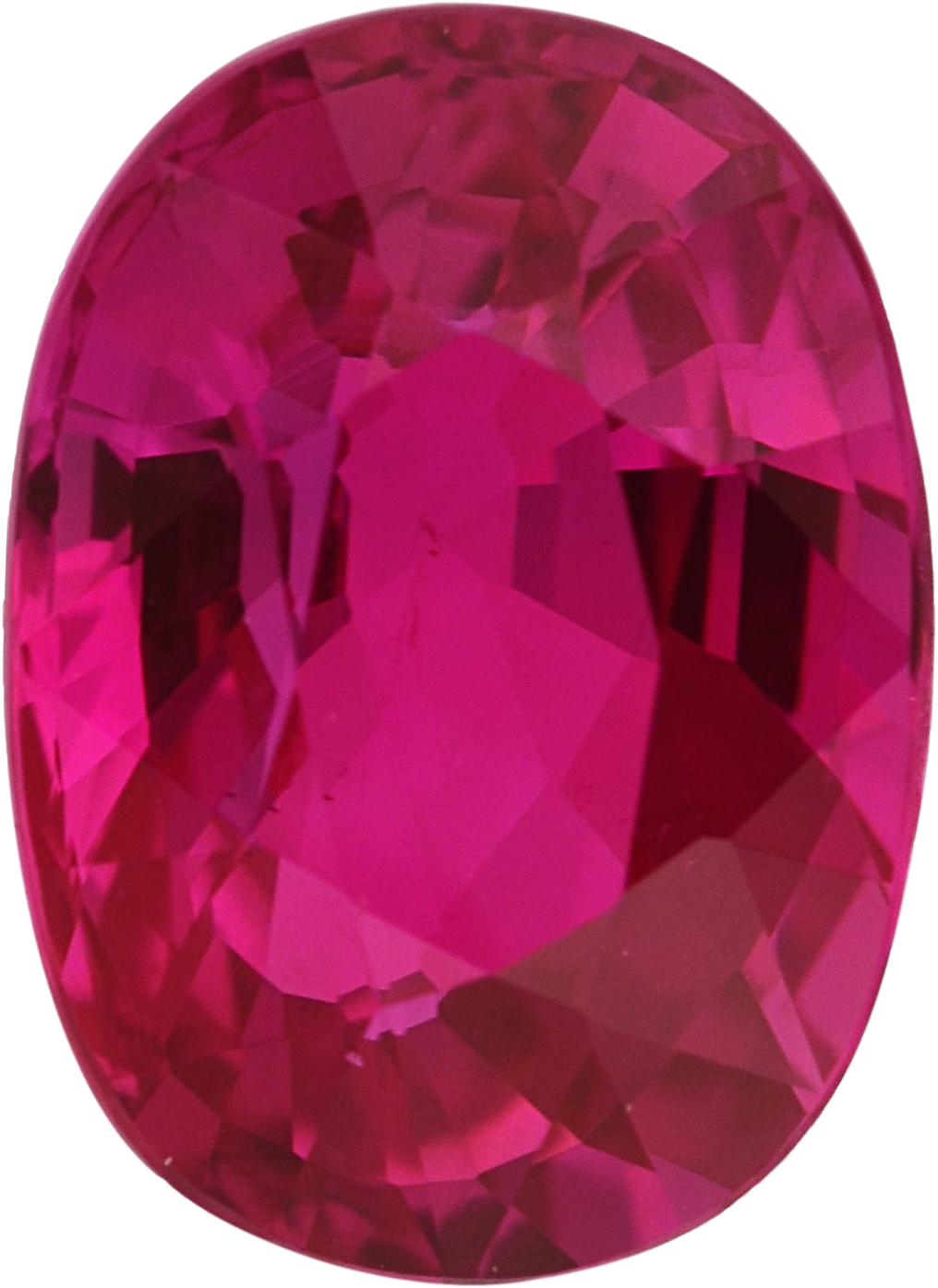 Loose  Untreated Ruby Loose Gem in Oval Cut, Vibrant Purple Red, 6.64 x 4.82  mm, 1.04 Carats