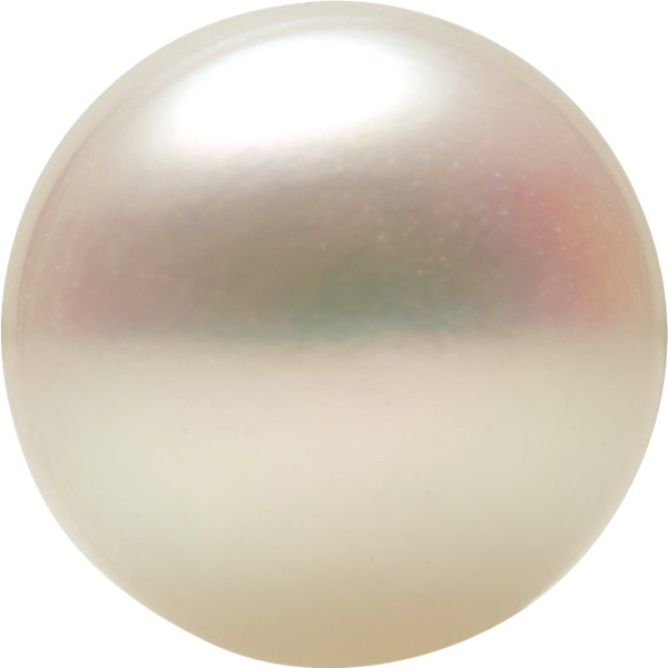 Discount White Freshwater Cultured Pearl, Button Shape Half Drilled, Grade AAA, 8-8.9 mm in Size