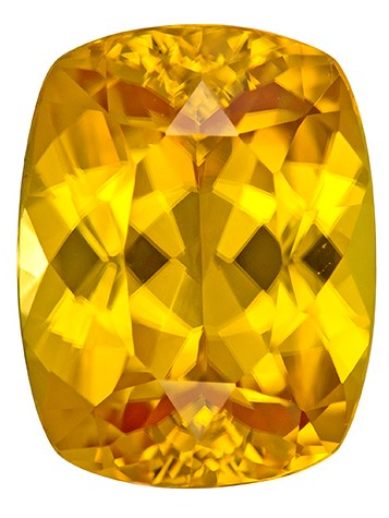 Loose Yellow Zircon Gemstone, Cushion Cut, 5.05 carats, 10.5 x 8.1 mm , AfricaGems Certified - A Great Buy