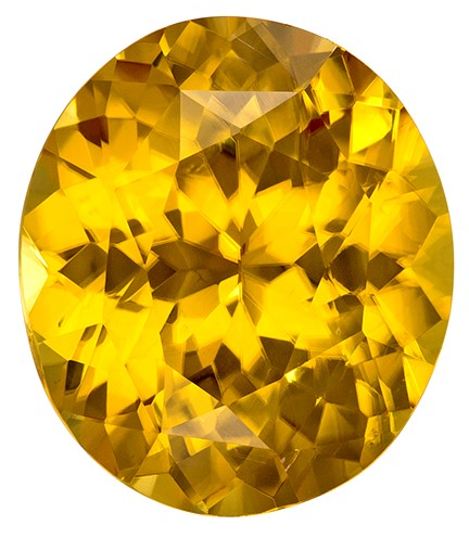 Loose Yellow Zircon Gemstone, Oval Cut, 10.01 carats, 13.5 x 11.7 mm , AfricaGems Certified - A Great Deal