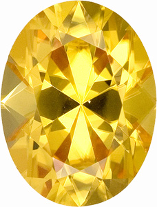 Lovely and Royal Golden  Yellow Zircon Natural Gem, Oval Cut, 2.99 carats