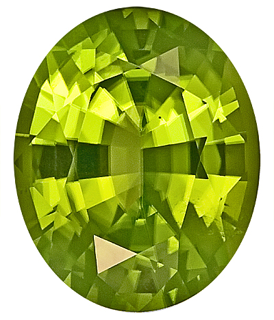 Lovely Burmese Natural Peridot Gem, Oval Cut, 14.2 x 11.5 mm, 7.99 carats