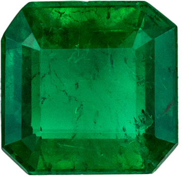 Lovely Emerald Loose Gem in Emerald Cut, 0.56 carats, Rich Green, 5 mm