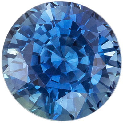 Lovely GIA Certified Blue Green Sapphire Loose Gem, 6.78 x 6.9 x 4.84 mm, Medium Greenish Blue, Round Cut, 1.75 carats