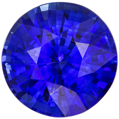 Lovely GIA Certified Blue Sapphire Loose Gem, 9.15 x 9.26 x 5.74 mm, Vivid Rich Blue, Round Cut, 3.56 carats