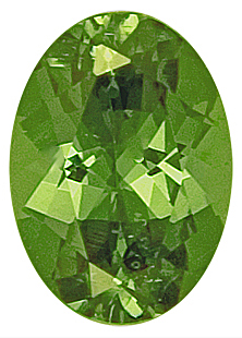 Lovely Green Bargain Price Namibian Demantoid Garnet Gemstone ,Oval Cut, 7.5 x 5.4 mm, 1.21 carats